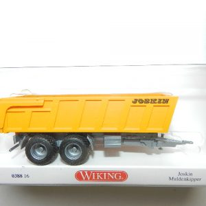 Wiking 0388 16 Joskin Muldenkipper orange FG silber