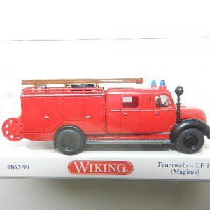 "Wiking 0863 99 Magirus Rundhauber Feuerwehr LF 16  ""lange Kabiene"""